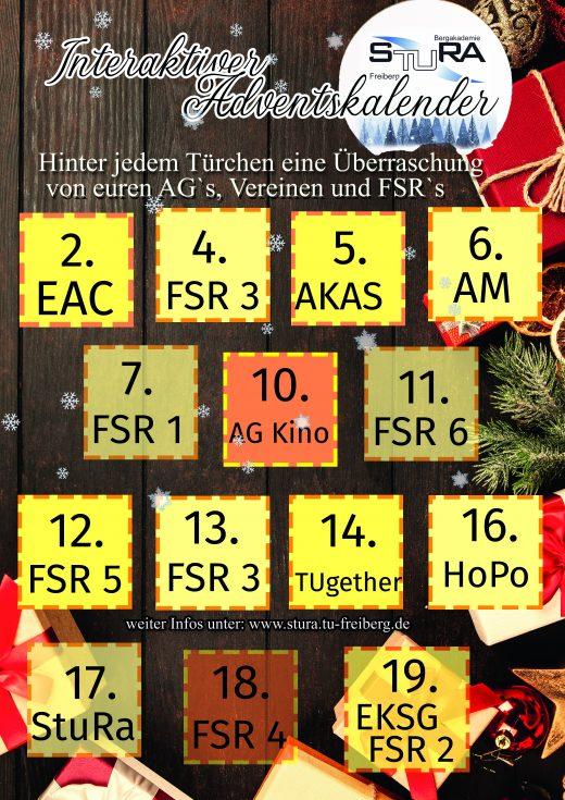 Poster zum Interaktiven Adventskalender